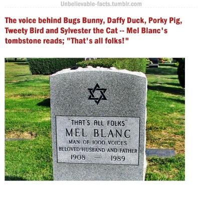 Mel blanc s tombstone