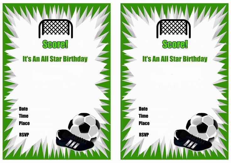 Free Printable Soccer Birthday Party Invitations Birthday Party