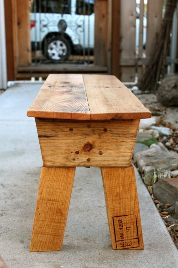 Pallet de madera rústica Banco de jardín