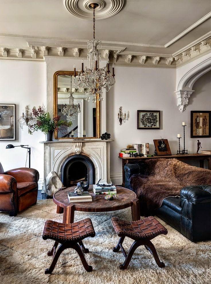 дневник дизайнера: Великолепный мужской интерьер квартиры в Бруклине