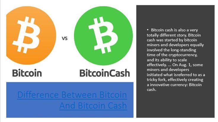 bitcoin bitcoin cash difference