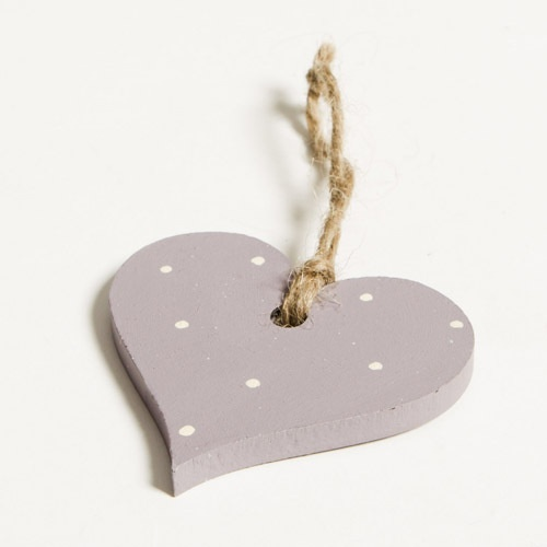 Hand Painted Wooden Heart Decoration - Brassica