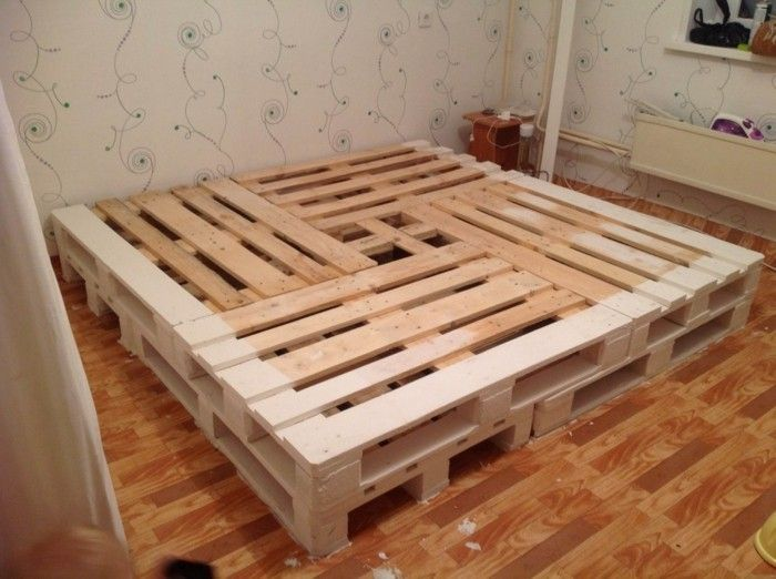 25 best ideas about bett aus europaletten on pinterest palettenbett palettenm bel and. Black Bedroom Furniture Sets. Home Design Ideas