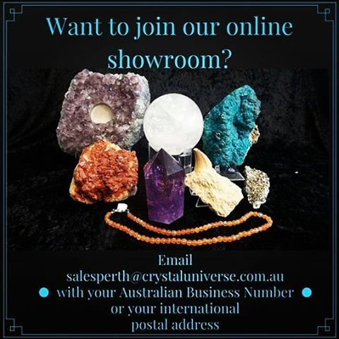 We would love to serve you in our interactive online showroom. Its a Facebook group with secret settings so email us your details to get an invitation. #crystalshop #metaphysicalsupplies #mineralcollector #lapidary #crystalhealing #fossils #crystals #australianbusiness #internationalbuyers #showroom #psychic #massage #healer #jewellerydesign #supplier #markets