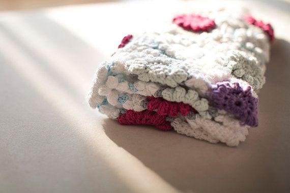 Crochet baby blanket, Baby Blanket , Fluffy Baby Blanket