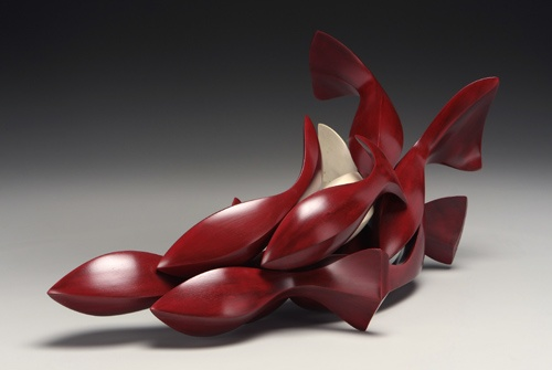 "Joel Urruty ""School of Fish"" sculpture"