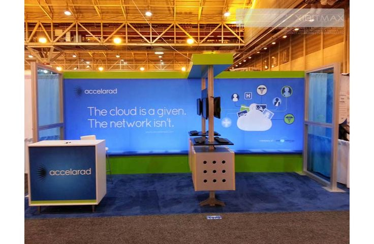 Accelarad 10x20 Trade Show Exhibit Rental - Check EXHIBITMAX Trade Show Rental, if your needs require a custom designed and built trade show booth