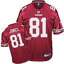 San Francisco 49ers 81 Brandon Jones Team Color Red Jersey