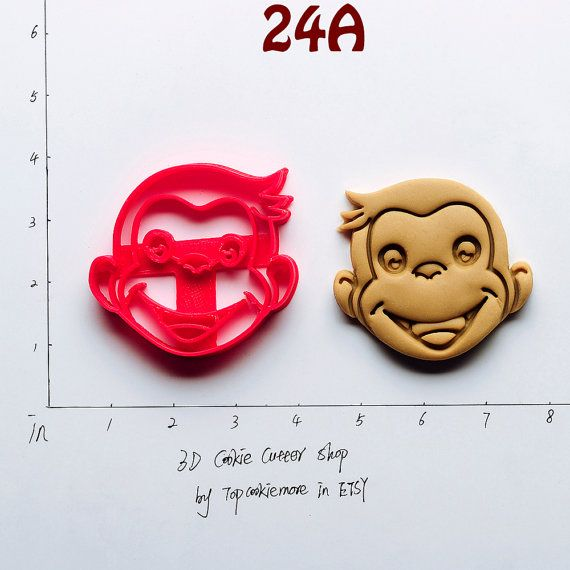 Curious George Cookie Cutter birthday favor party by TopCookieMore