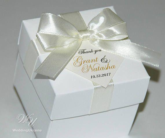 WHITE COTTON CARDS Shoe Wedding Favour Box