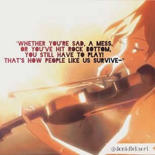 I love the scripts in this anime ♡♡♡♡♡ specially Kaori Miyazono words ^^