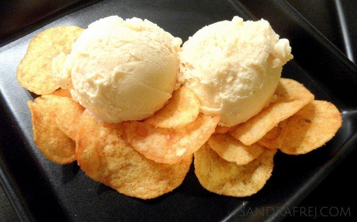 paprika chips flavored ice cream / lody o smaku chipsów paprykowych