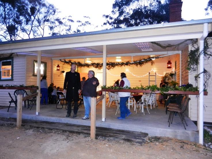 The fabulous back verandah - great for performing arts too