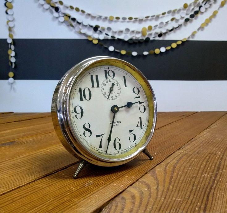 Vintage Alarm Clock; Big Ben Antique Alarm Clock; Mantle Decor; Farmhouse Style; Clock Grouping; Fixer Upper; Magnolia Market; Marburger by LynnMichelleDesign on Etsy