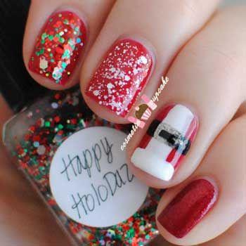 decoracion de unas para navidad