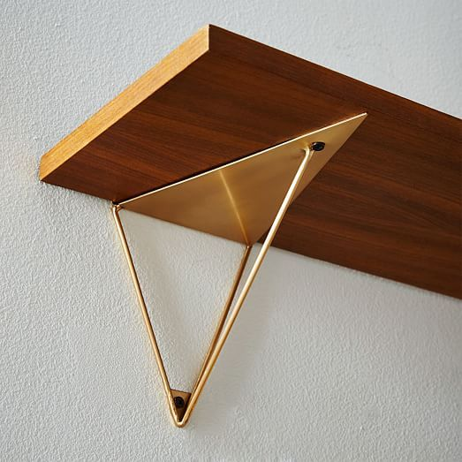 Prism Brackets - Antique Brass | west elm