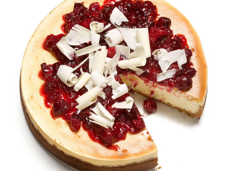 White Chocolate-Cranberry Cheesecake recipe from Food Network Kitchen via Food Network
