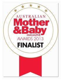 """Hippybottomus' Stay-Dry Natural Nappy has been voted as a Finalist in the Australian Mother and Baby Magazine Awards 2013 as the """"Reusable Nappy of the Year""""."""