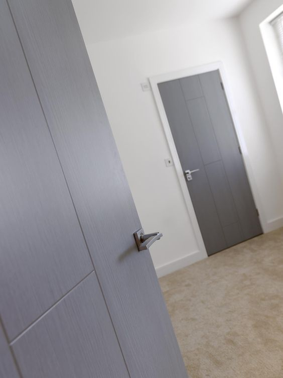 Stylish grey internal doors from JB Kind #doors