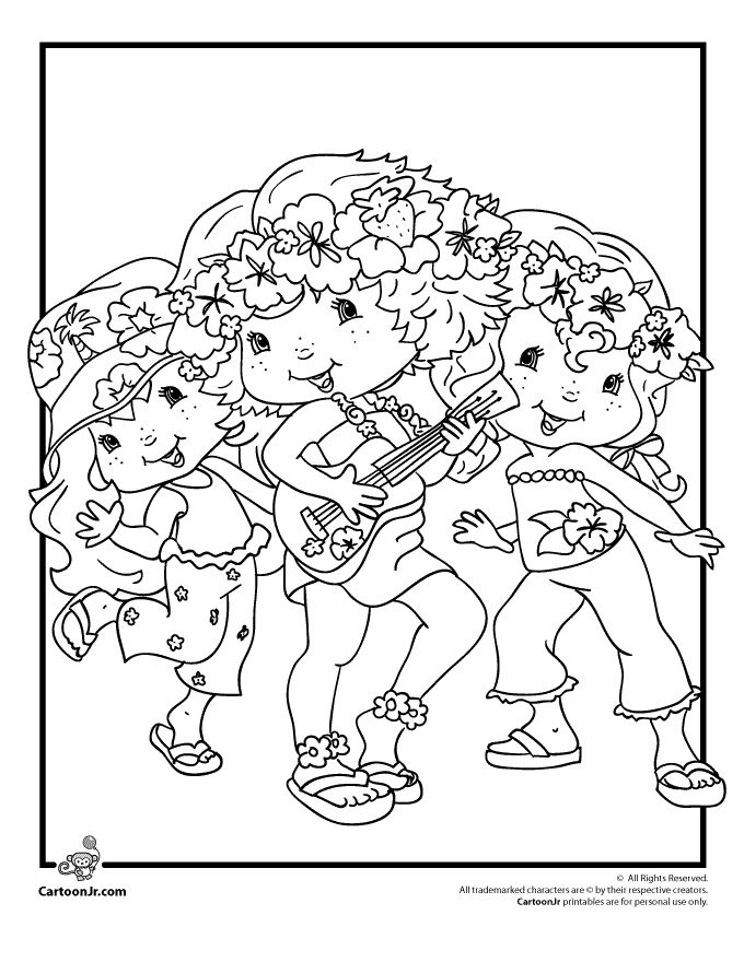Strawberry Shortcake Coloring Pages Seaberry Beach Party Page Cartoon Jr