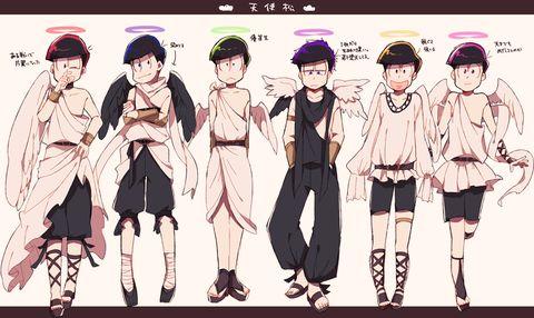 Osomatsu-san Angel Characters:Osomatsu/Karamatsu/Choromatsu/Ichimatsu/Juushimatsu/Todomatsu