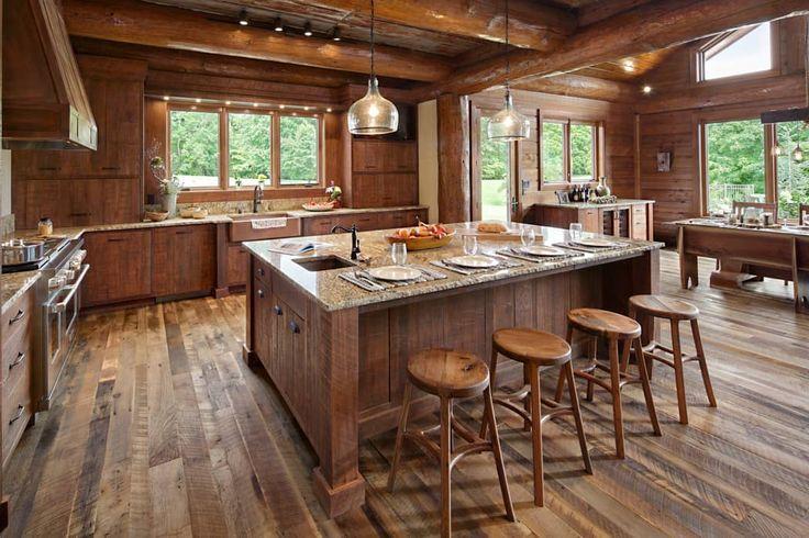 Best 25+ Rustic Cabin Kitchens Ideas On Pinterest