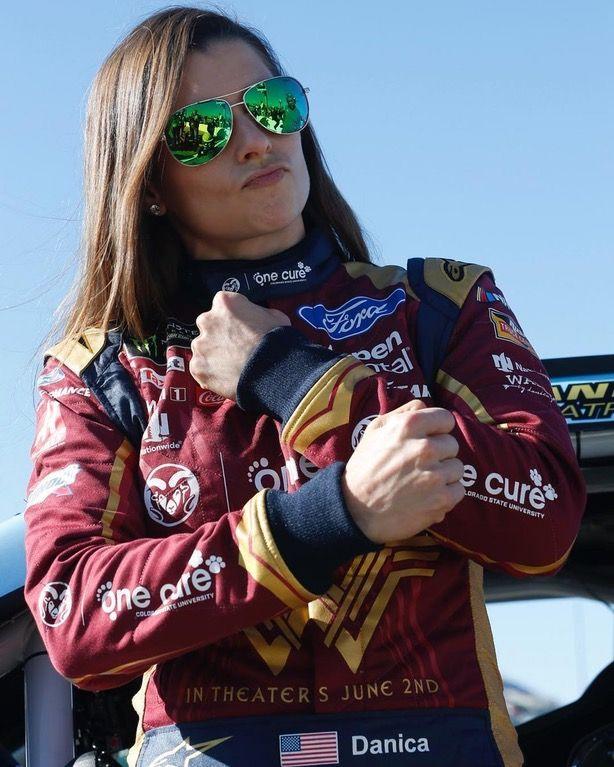 Danica Patrick Wears Wonder Woman NASCAR Suit