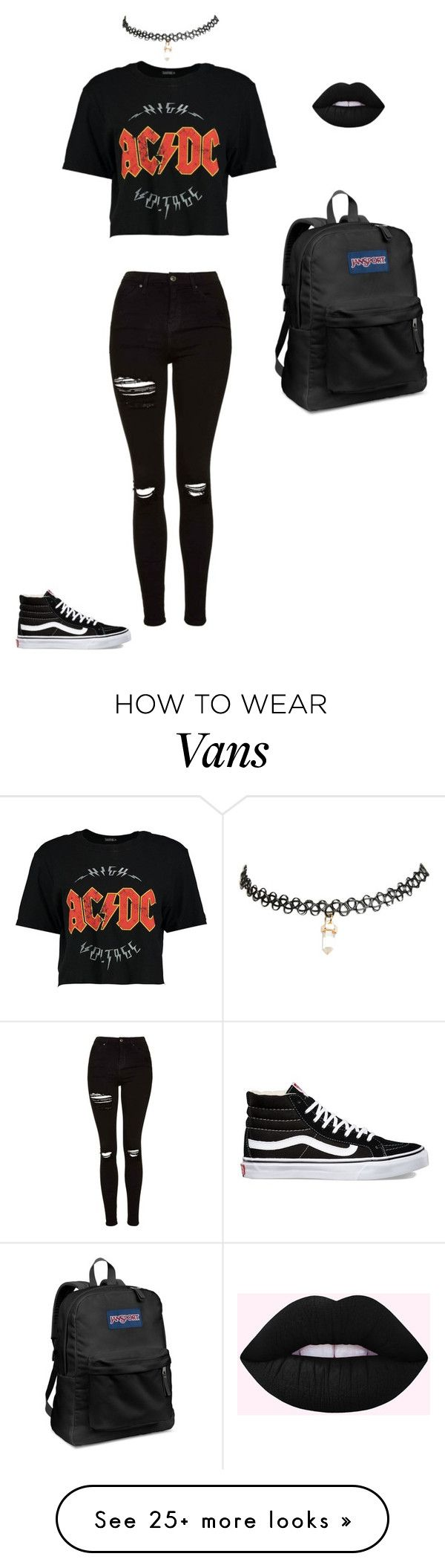 """Untitled #10"" by myamarie8 on Polyvore featuring Boohoo, Topshop, Wet Seal, Vans and JanSport"