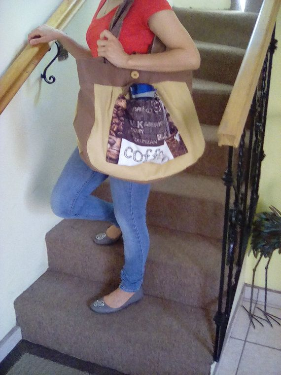 Brownies & Coffee Big Tote by InnateArtisanSoap on Etsy