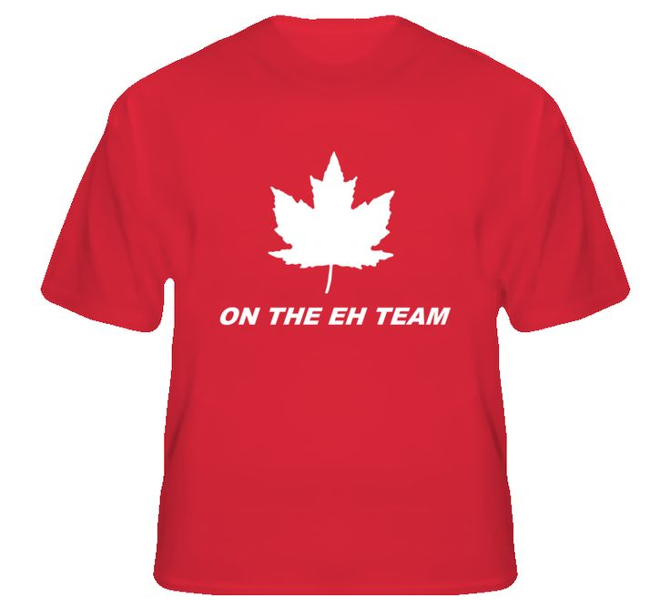 On the Eh Team Canadian Hockey T Shirt