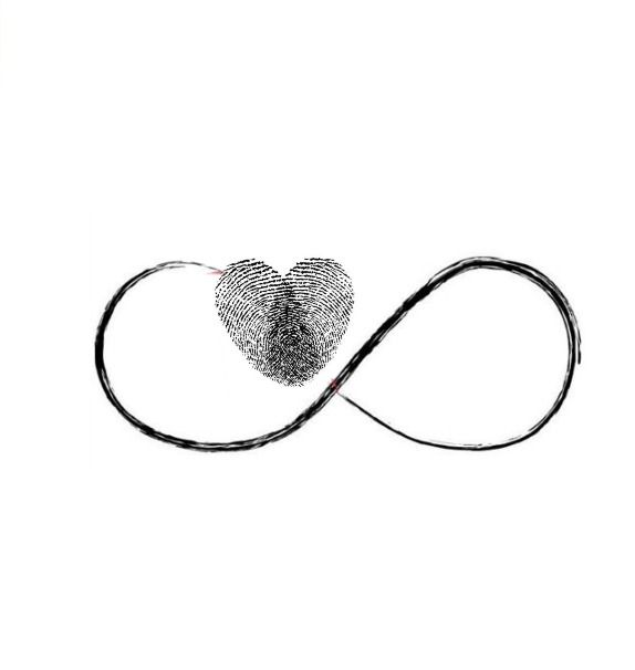 This heart is a combo of two fingerprints joining together to make one heart...I want to get this tat with my boys' thumbrpints