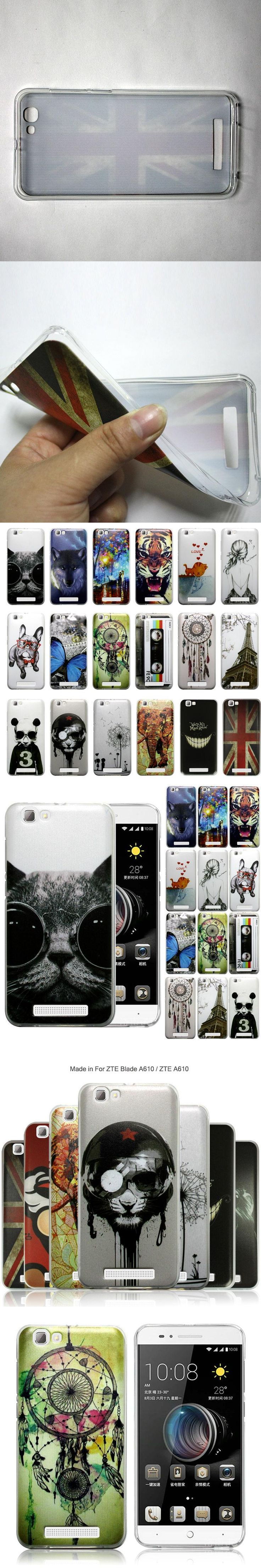 JURCHEN For ZTE A610 Cover Case For ZTE A610 ZTE Blade A610 Case Cute Lovely Cartoon TPU Soft Silicone in stock