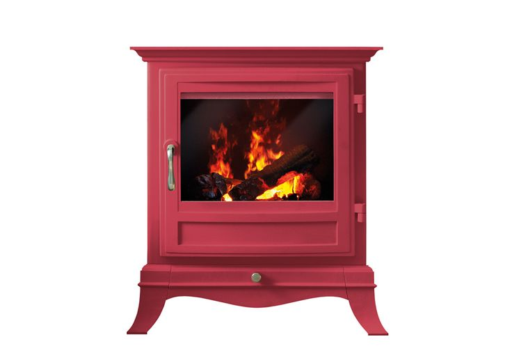 The Beaumont Electric Stove in Red.