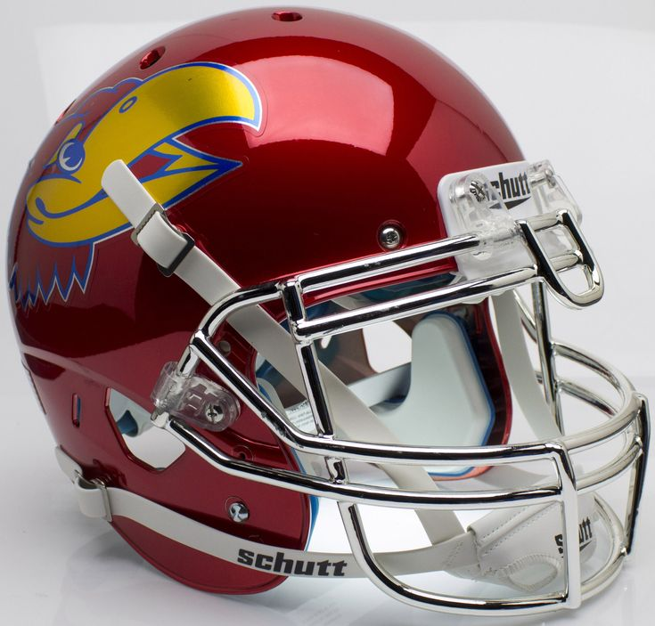 Kansas Jayhawks Authentic Schutt XP Full Size Helmet - Scarlet Red Large Decal