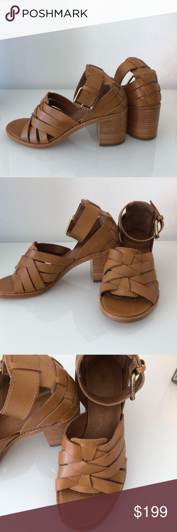 NWOT Frye Sandals Bela sandália Frye de couro marrom / camelo. Detai incrível …   – My Posh Picks