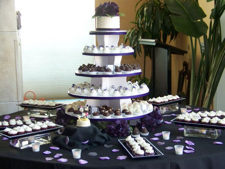 Wedding Truffle Display on our Round Cupcake Tower: http://www.thesmartbaker.com/products/5-Tier-Round-Cupcake-Tower.html