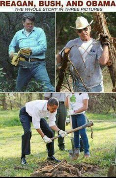 ronald reagan george bush and obama working funny - Google Search