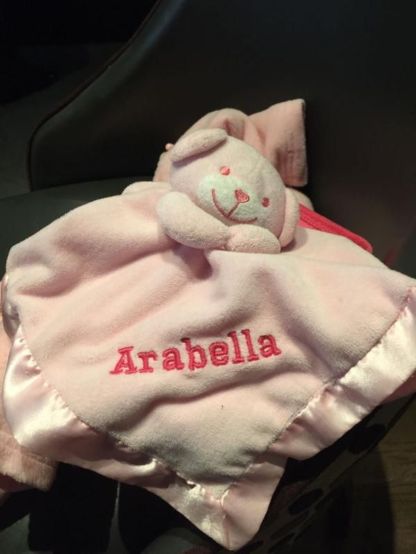 Lost on 20 Jul. 2016 @ Manchester Airport - terminal 1. Cuddlebear is a small pink blanket with a bears head and arms. He has 'arabella' embroidered onto him. Lost between security and gate 26 at terminal 1, Manchester airport. Please please help. Visit: https://whiteboomerang.com/lostteddy/msg/kiv574 (Posted by Charlotte on 22 Jul. 2016)