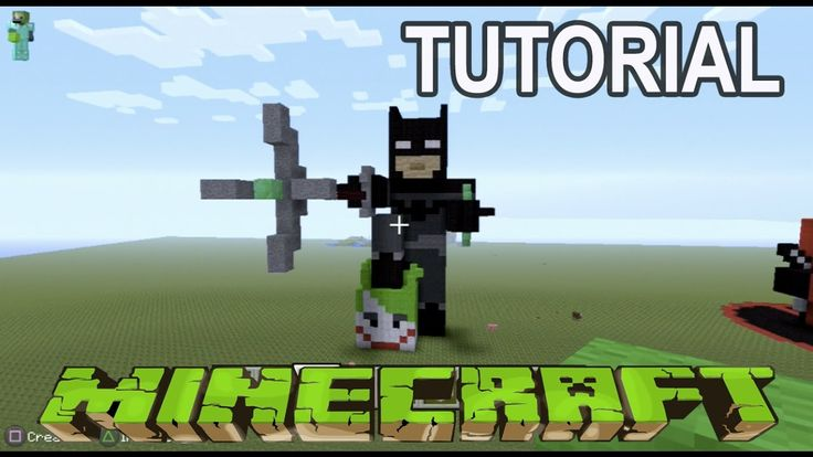 Minecraft Tutorial: How to make a Batman vs Joker The Garage Tv - YouTube