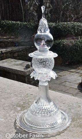 Diy Garden Art | DIY Garden/Outdoors / glass yard art craft-ideas