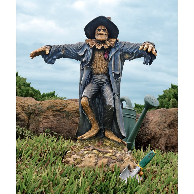 xoticbrands gothic zombie home garden scarecrow statue sculpture halloween decor - Halloween Statues