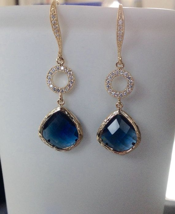 Blue Sapphire Earrings Sapphire Earrings Blue by 2010louisek7