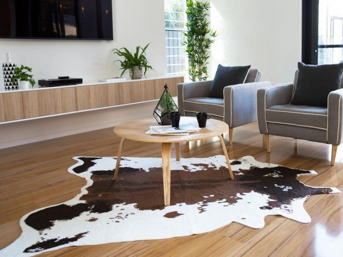 Faux Cowhide Rug - Brown