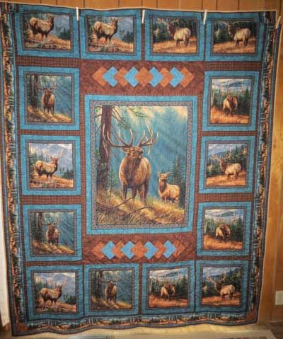 quilts fabric panels | Elk Quilt #2                                                                                                                                                      More