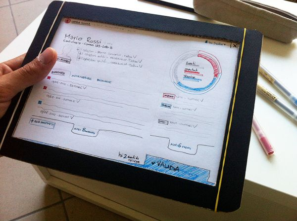 iPad Patient Hospital Chart - Paper Prototype by Riccardo Ghignoni