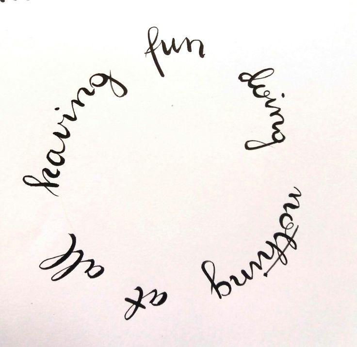 #brush pen #handlettering #wreath#fun #nothing