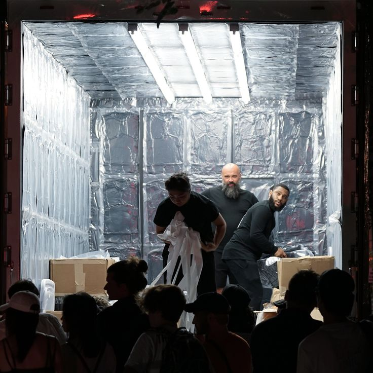 Alexander Wang announced his collaboration with Adidas Originals at his show on Saturday night. Early Sunday, a cryptic video announced a pop-up truck selling nine early pieces from the collab, which would make three stops in NYC.