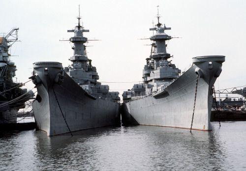 USS Iowa and USS Wisconsin