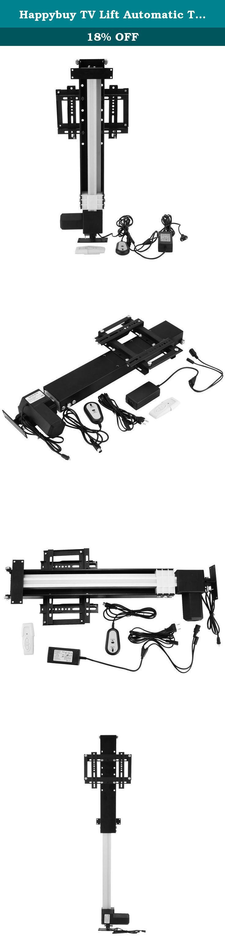 "Happybuy TV Lift Automatic TV Bracket Fit for 26'-32' TVs Bracket Stand 110V AC TV Bracket with Shelf for Home Use TV Bracket Wall Mount with Remote Controller (28' ). Automatical TV Lift Bracket with Remote Controller 14"" - 37"" The lift features a unique mounting mechanism which fastens your flat screen TV to the bracket for guaranteed safety and security. These lifts can also be mounted to your ceiling or wall and drop your flat screen downward. The lift operates by using a single…"