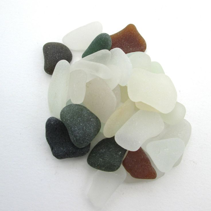 Cornish sea glass, English beach glass, Surf tumbled glass, eco craft supply, jewelry making supplies, 30 frosted pieces, UK collector by BlueBoxStudio on Etsy
